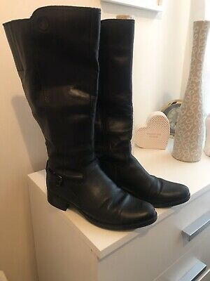 Ladies Pavers Size 4 (37) Boots Real Leather In Very Good Condition • 20£