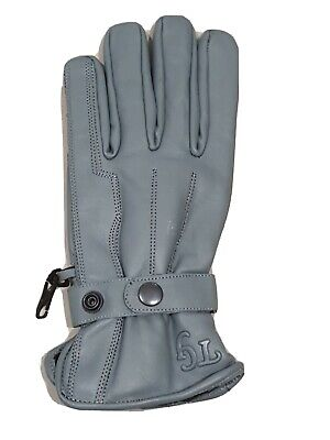£12.99 • Buy TG Motorcycle / Motorbike /Scooter Cowhide Leather  Gloves Light  Grey S-XXL