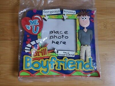 New Novelty Boyfriend Rubber Cartoon Funny Love Cute Photo Frame Gift • 1.50£