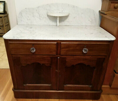 AU140 • Buy Antique Marble Topped Washstand/Dresser Table