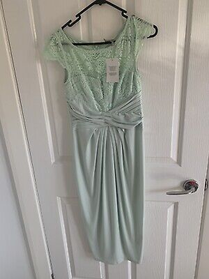 AU15 • Buy Asos Dress 10 Mint Green Lace