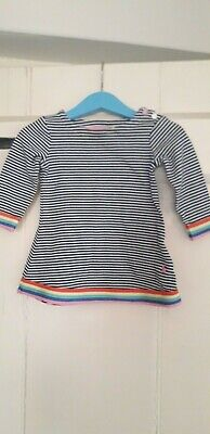 Joules Baby Girls Rainbow Stripe Long Sleeved Dress 6-9 Months • 5£