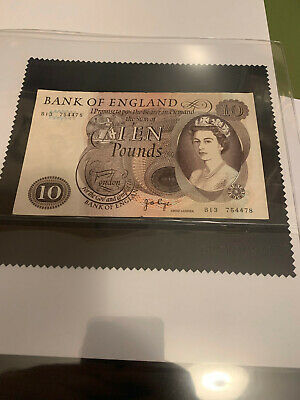 ENGLISH OLD 10 POUND BANK NOTE: Cashier PAGE • 16£