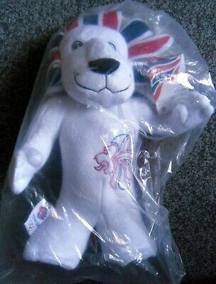London 2012 Olympics - Pride The Lion Mascot - Soft Toy - Brand New • 5£