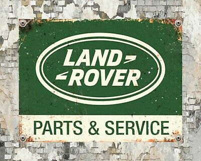 Land Rover Parts & Service Defender Evoque Freelander Metal Plaque Tin Sign 1329 • 6.99£