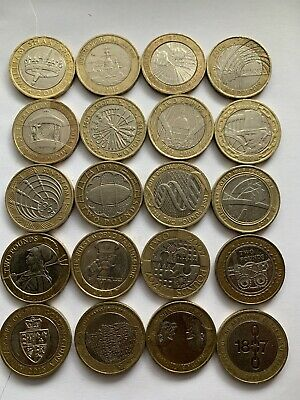 Job Lot Of £2 Coins  20x Collectable Two Pound Coins.. • 63£