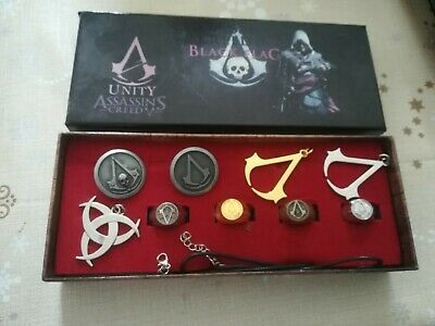 Assassin's Creed Black Flag Pin Necklace Ring Gift Set • 6.99£
