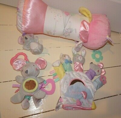 Baby Girls Mothercare Confetti Party Bundle Tummy Time Roller Mouse Toy  • 16.50£