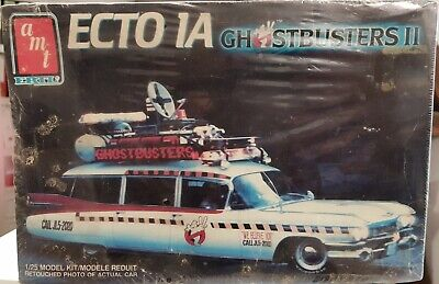 Amt Ghosbusters 2 Ecto 1a Cadillac 1:25 Neuf  Mib  Sealed Scellee • 31.94£
