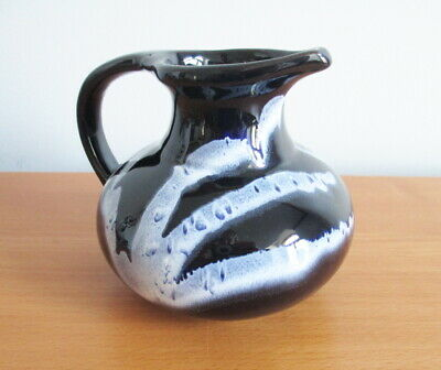 $ CDN15 • Buy Blue Mountain Pottery Granite Creamer Jug Cobalt Blue White 1970s BMP 4 1/4