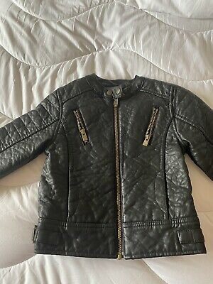 Mothercare  Baby K  Faux Leather Biker Jacket Size 6-7 Years In Lovely Condition • 1.80£