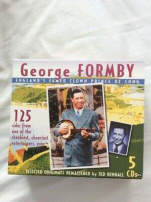 George Formby - England's Famed Clown Prince Of Song 5 CD Box Set - Almost New • 5£