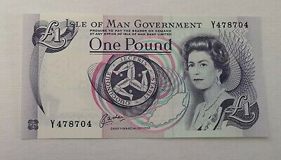 Mint Condition Isle Of Man £1 One Pound Note • 0.01£