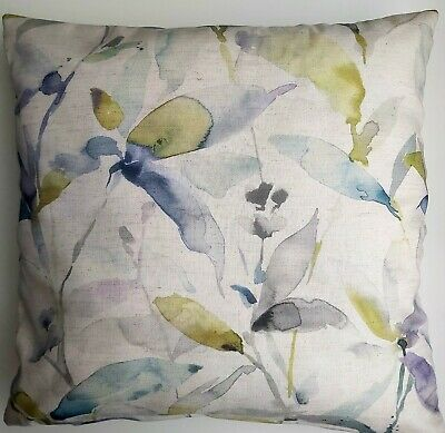 Spring Linen Cushion Cover . Meadow, Flowers 45x45cm$ • 1.30£