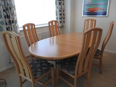 Skovby Dining Table And 6 Chairs, Danish Furniture • 200£