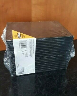 10 Empty Blank Single CD DVD Cases Black With Cover Window • 3.10£