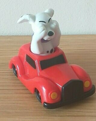 Disney's 101 Dalmatians McDonalds Happy Meal Toy Dog In Red Push Along Car • 2£