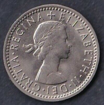 1962 Sixpence. High Grade.  Lustrous.  POST FREE • 3.25£
