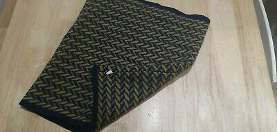 Seasalt Wool Navy And Mustard Snood Knitted Scarf • 5.50£