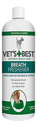 Vets Best Dental Breath Freshener Water Additive For Dogs, No Bad Breath, 500 Ml • 9.13£