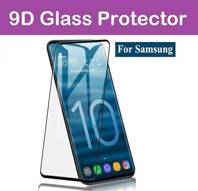 $ CDN6.09 • Buy For Samsung Galaxy S10 S20 S9 Tempered Glass Screen Protector Film Curve - Black