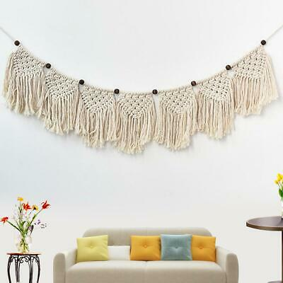$26.30 • Buy Handmade Tapestry Wall Hanging Bohemian Macrame Woven Cotton Rope Curtain Bedroo