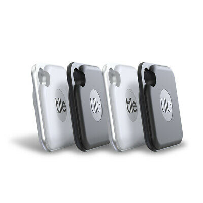 Tile Pro 2020 GPS Bluetooth Tracker Key Finder Locator- IPhone Android - 4 Pack • 99.99£