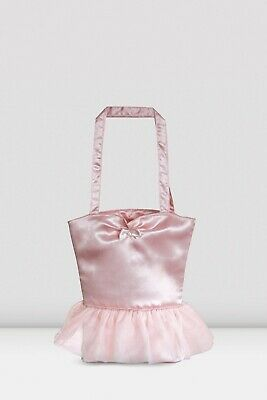 BNWT Bloch Girls Tutu Bag With Embroidery In Pink With Tutu And Bow Detail • 17£