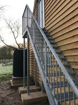 £10 • Buy External Fire Escape Staircase & Fire Escape - Made Stairs To Any Size !!!