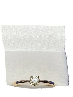 18ct Gold Diamond Solitaire Ring • 175£