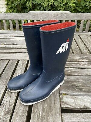 Musto M1 Yacht Sailing Boots Classic Deck Boat Wellies Rain Boots Navy Blue 5/38 • 9.20£