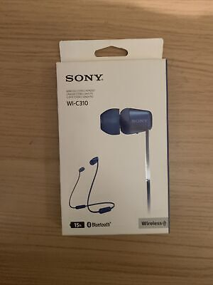 Sony WI-C310 In Ear Bluetooth Headphones - Blue • 7.90£
