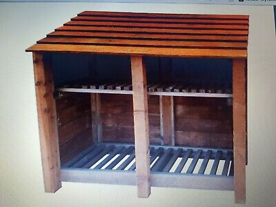 4FT Tall Double Bay Log Store Plans / Instructions • 44£