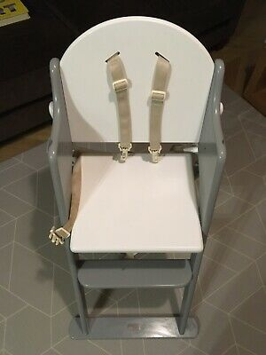 East Coast Grey And White Foldable High Chair With Seat Insert/ Floor Mat • 25£
