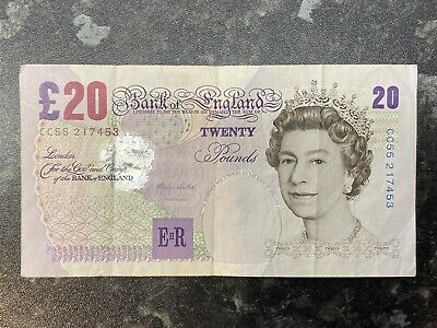 Bank Of England Old 20 Pound Note - M Lowther - Sir Edward Elgar • 18£