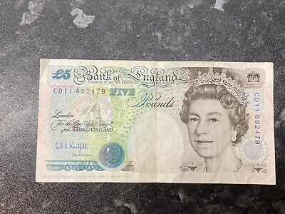 Bank Of England Old 5 Pound Note (£5) - G E A Kentfield - George Stephenson • 5.50£