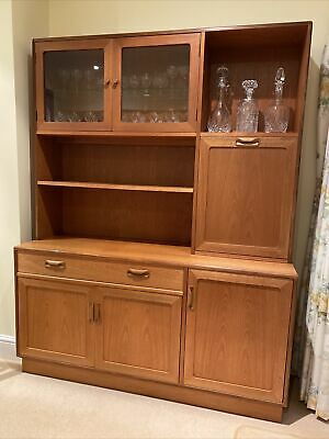 G Plan Retro Teak Drinks Cocktail Cabinet & Wall Unit 1970s  • 21.20£