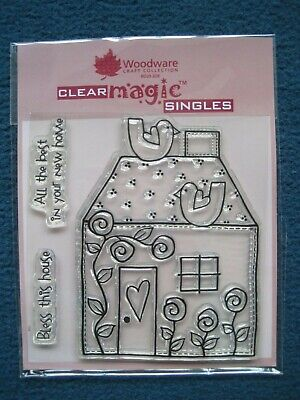 New Home House Woodcare Craft Collection Clear Magic Singles 3 X Stamps - New  • 3£
