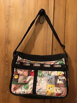 Snoopy LeSportsac Authentic Shoulder Bag Used 35x25x13cm • 129£