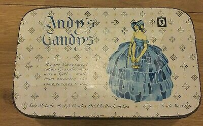 Vintage Andy's Candy's Sweet Tin With Crinoline Lady 1950's Candy Collectable • 5.99£