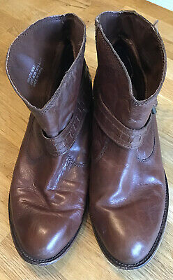 Red Herring Brown Ankle Boots Size 6 • 12.30£