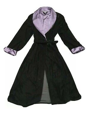 M And S Black Velor Dressing Gown Size 16/18 • 7.50£