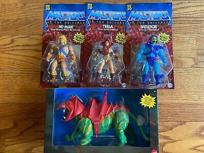$33.99 • Buy MASTERS OF THE UNIVERSE RETRO 2020 HeMan Battle Cat Teela  Skeletor