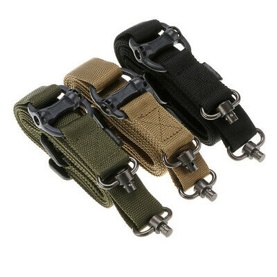 $ CDN15.20 • Buy Tactical 1 Or 2 Point Rifle Sling Quick Detach QD Swivel End Quick Release