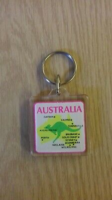 Australia Map/Location Kangaroo Keyring • 3.99£