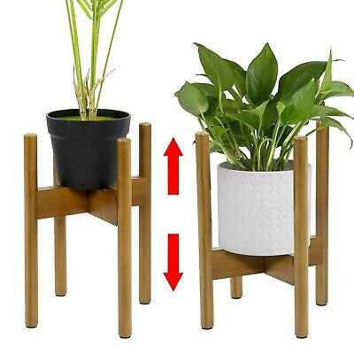 £14.95 • Buy Adjustable Plant Stand Extendable Bamboo Plant & Flower Pot Holder