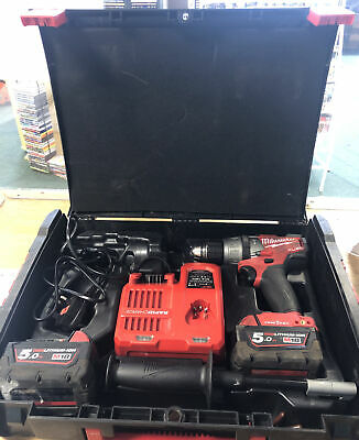 Milwaukee M18 ONEPD Combi Drill With 2 Batteries & Charger *BOX* • 237.50£
