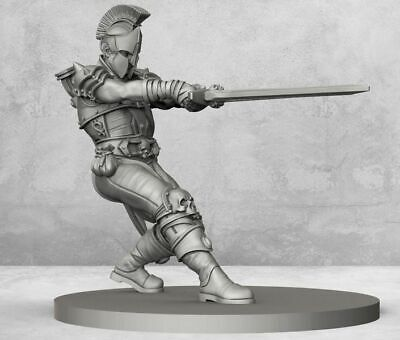 Roman Spartan Warrior Soldier Custom Resin Model Kit GK Figure Statue 1/18 • 19.99£