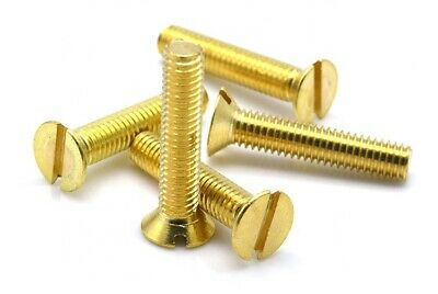 £1.56 • Buy M3 3mm Solid Brass Slotted Countersunk Machine Screw CSK Head Bolts DIN 963