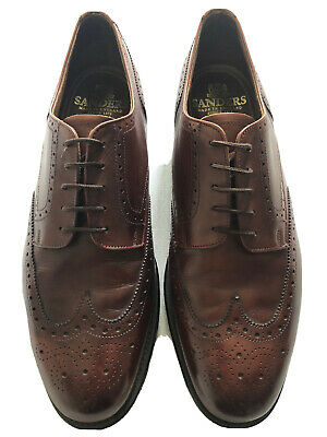 Sanders Brogue  Fakenham  Brown Leather Shoes, Size 12 UK RRP £315  • 49.99£